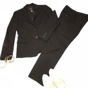 J.Crew lightweight black jacket and pants suit 4